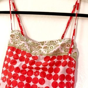 Roxy Tops - Roxy Spaghetti Strap Red, Pink, and Green Size L